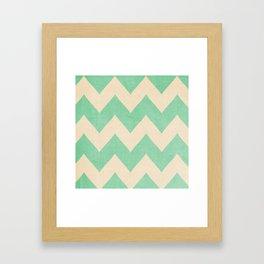 Malibu - Chevron Framed Art Print