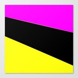 Angelica . Lemon , raspberry , black Canvas Print