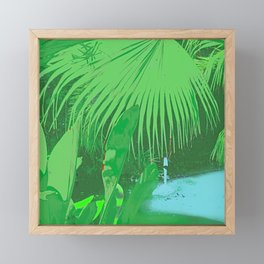 Exotic Jungle Oasis Pop Art Pattern Framed Mini Art Print