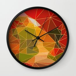Autumn abstract landscape 6 Wall Clock