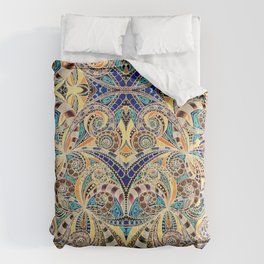 Drawing Floral Zentangle G240 Comforters