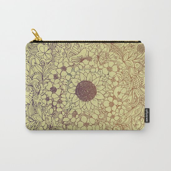 Flower circle Carry-All Pouch