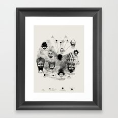Ancient Faces Infographic Journey Framed Art Print