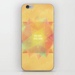 Dreams in bloom iPhone Skin