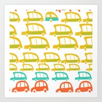 cars Art Prints featuring cars by mummysam