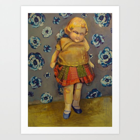 Blue-eyed Mary Art Print