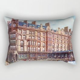 Vintage St Enoch railway station hotel Glasgow Rectangular Pillow