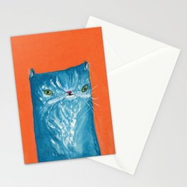 Blue Cat Stationery Cards