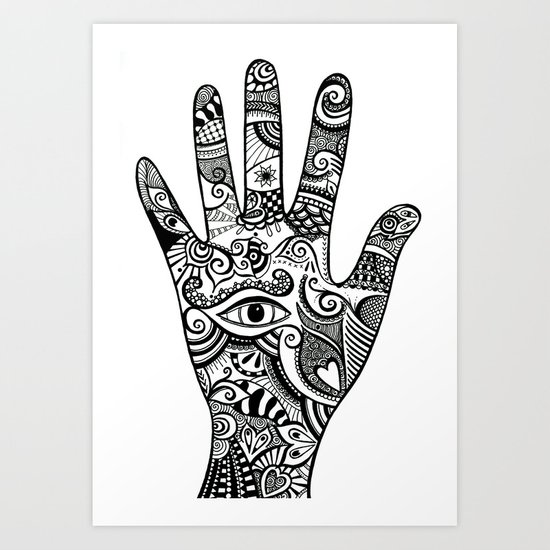 The hand of creativity Art Print