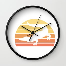Crocodile Retro Alligator Reptile Animal Wall Clock