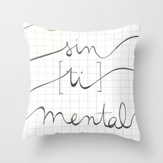 sin (tí) mental Throw Pillow