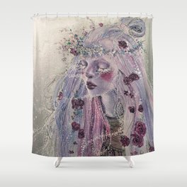 """Winters Bloom"" Shower Curtain"