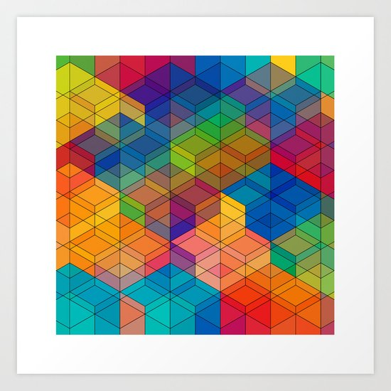 Cuben Intense No.2 Art Print