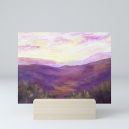 A Violet Landscape AC150625a Mini Art Print