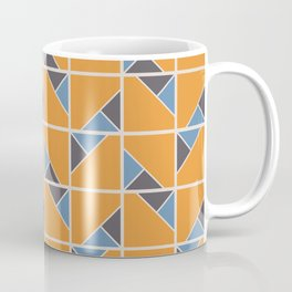 Retro Geometry surface pattern (Orange-blue) Coffee Mug
