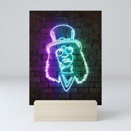 Slash neon art Mini Art Print