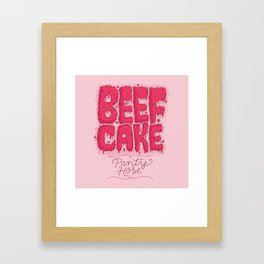 Beef Cake Framed Art Print
