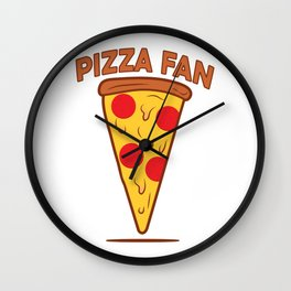 Pizza fan Wall Clock