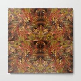 Autumn Twirled Metal Print