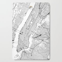New York City White Map Cutting Board