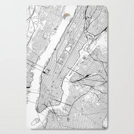 New York City White Map Cutting Board