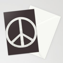 Peace - peace flag, peace, love, woodcut, linocut, vintage, hippie, happy Stationery Cards