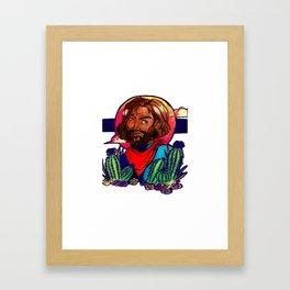Cacti Noon Framed Art Print
