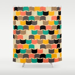 Retro abstract pattern Shower Curtain