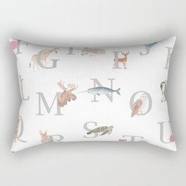 Animal Alphabet Rectangular Pillow