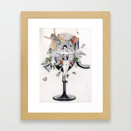 The Pitch | Collage Framed Art Print