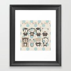 Brown Paper Bears Framed Art Print