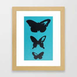 Unfinished Butterfly Silhouette- B Framed Art Print