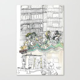 sketch_temple Canvas Print