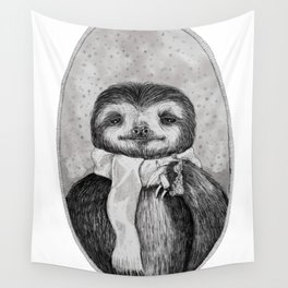 Chill Sloth Smoking a Joint Wall Tapestry