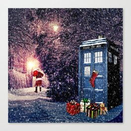 Tardis Christmas Canvas Print