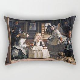 Diego Velazquez, Las Meninas, 1656 Masterpiece, Wall Art, Prints, Posters, Tshirts, Men, Women, Kids Rectangular Pillow