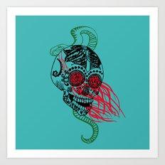 Skull and Snake Art Print