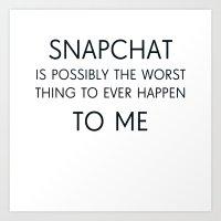 Snapchat Art Print