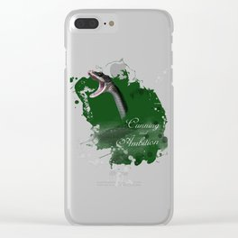 Slytherin HP inspired artwork Clear iPhone Case