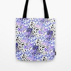 Purple splatters Tote Bag