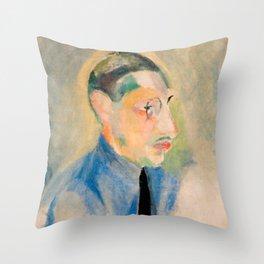 Igor Stravinsky (1882 – 1971) by Robert Delaunay in 1918 Throw Pillow