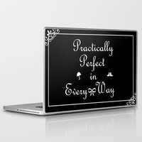 mary poppins Laptop & iPad Skins featuring Mary Poppins Practically Perfect by Whimsy and Nonsense