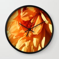 vermont Wall Clocks featuring Vermont Autumn Golden Flower by Vermont Greetings