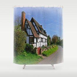Chocolate Box Cottage Shower Curtain