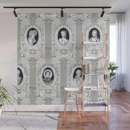 Science Women Toile de Jouy Wall Mural