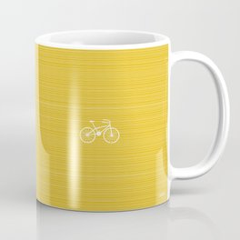 Yellow Bike by Friztin Coffee Mug