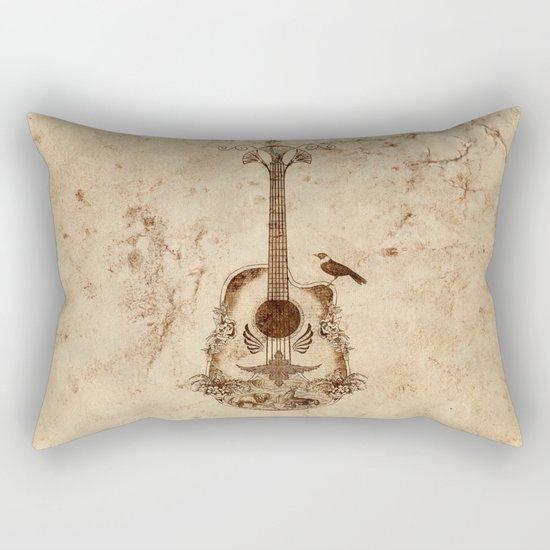 The Guitar's Song Rectangular Pillow