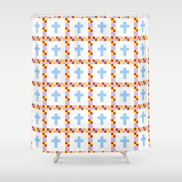 Christian Cross 45 Shower Curtain
