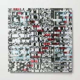 Part Wash (P/D3 Glitch Collage Studies) Metal Print
