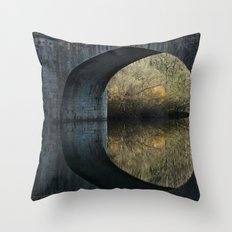 Eye of the bridge Throw Pillow